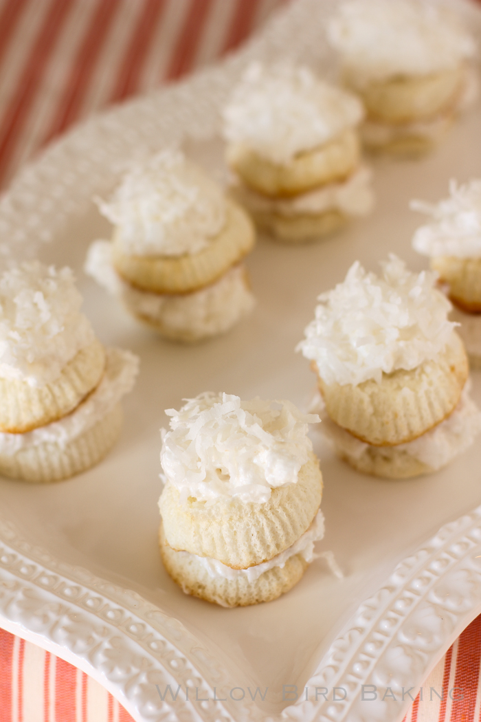 Skinny Mini Coconut Cakes (only 120 calories each!)