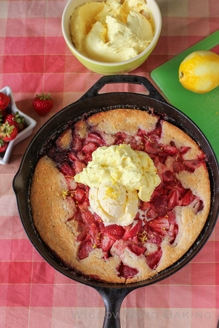 STRAWBERRY COBBLER WITH LEMON CREAM