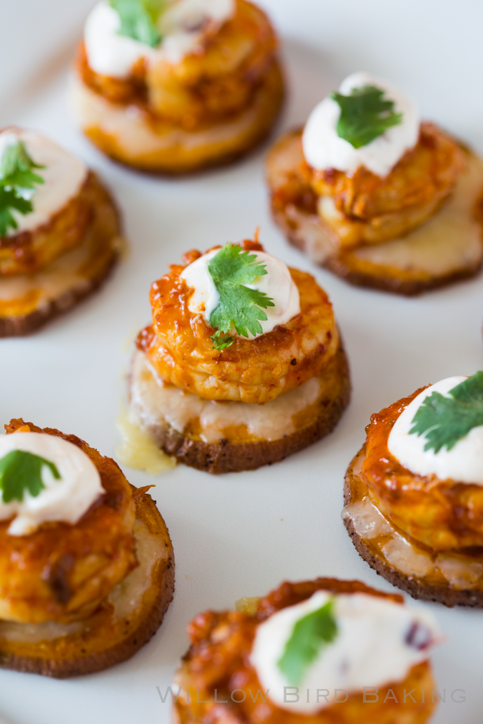 Cheesy Chipotle Shrimp Sweet Potato Coins