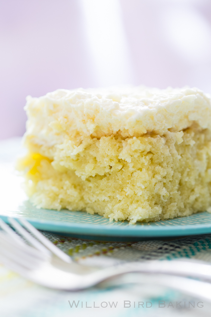 Coconut Cake with Whipped Frosting (and My First Trip to Disneyland!)