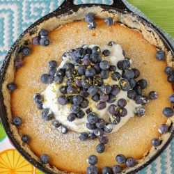 Lemon Blueberry Gooey Butter Cake